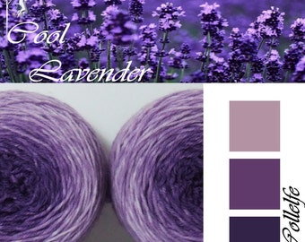 Cool Lavender* Sock Gradient yarn Merino hand dyed 2 x 50g