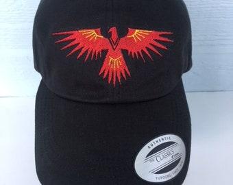 Native American Phoenix Thunderbird Embroidered Cap