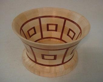 Maple Segmented bowl with red Mahagony