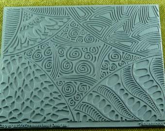 ROUNDABOUT  Helen Breil Zentangle Design Texture Embossing Intricate Rubber Stamp