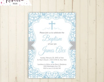 Boy baptism invitation first communion christening invitation boy invitation confirmation invitation printable baptism invitation 164
