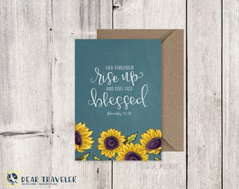 Mothers Day Cards, Scripture, Proverbs 31