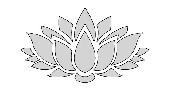 8 W String Art Lotus Flower Pattern / Template