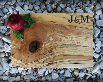 Personalized Cutting Board - Luxury Solid Board - Personalized Xmas - Wedding Gift - 5th Anniversary Gift - Family Gift - Anniversary Gift