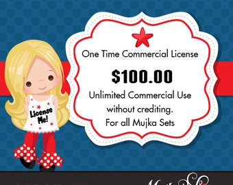 One Time Commercial License for Mujka Chic Digital Download Products
