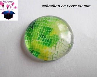 1 cabochon clear 20mm salamander skin theme