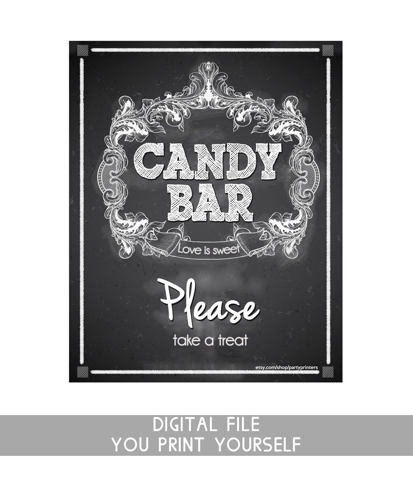 Bodas Candy Bar signo cartel pizarra Candy Bar pizarra boda