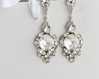 Vintage style bridal chandelier earrings crystal chandelier wedding vintage style bridal chandelier earrings crystal chandelier wedding earringsbridal jewelry long bridal aloadofball Image collections
