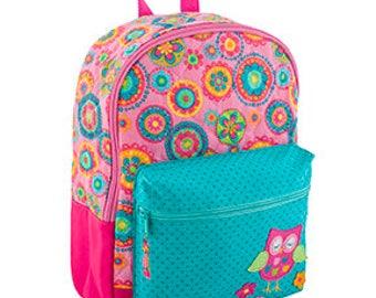Toddler Stephen Joseph Quilted Owl Rucksack / Backpack, Children's Backpack, Monogram, Personalized Backpack, Diaper Bag, Preschool Backpack