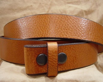 Textured Saddle Leather Belt - Hand Cut for Perfect Fit.