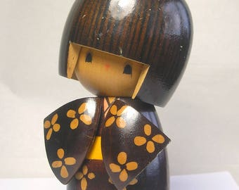 An Antique Signed Japanese Wood Doll A1