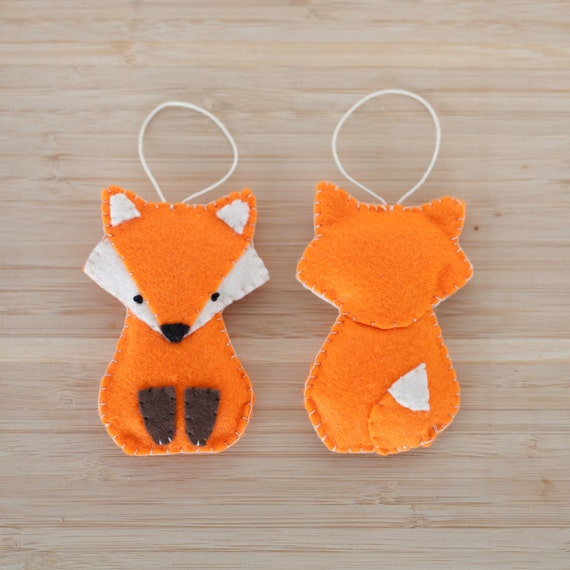 Items Similar To Felt Fox Ornament Handmade Fox Ornament Decorative Fox Ornament Nursery
