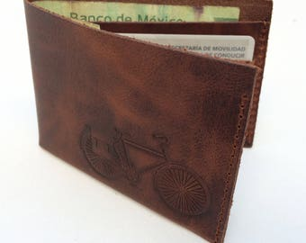 Wallet // Leather wallet bicycle, bicycle wallet
