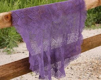 Sunstar Circular Lace Knit Pattern