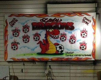 Airbrushed Team Sports Banner