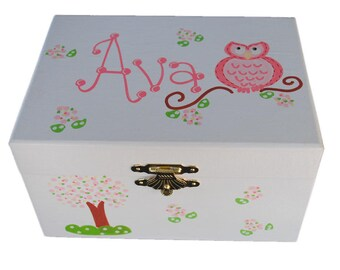 Personalized Musical Jewelry Box  African American Ballerina   Musical   Pink  Baby Gift  