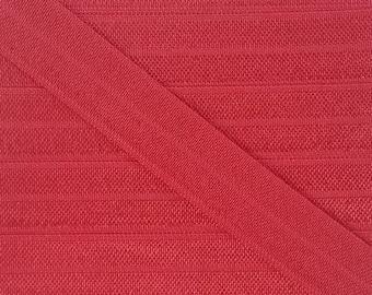 5/8 SCARLET  Fold Over Elastic 5 or 10 Yards