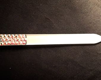 Hand Crystallized Glass Nail Files--Crystallized on Both Sides