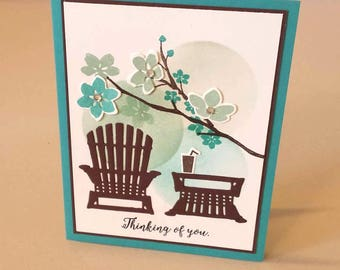 Thinking of You - StampinUp Colorful Seasons - Thoughts For You - For You Card - Friendship Card - For a Friend Card - Flowers Card - Spring