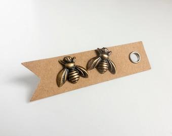 Bee Earrings - Bee Earrings Studs - Bee Jewelry - Stud Earrings - Gold Bee Earrings - Bee Gift - Beekeeper Gift - Simple Earrings