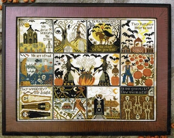 Halloween at Hawk Run Hollow by Carriage House Samplings Counted Cross Stitch Pattern/Chart