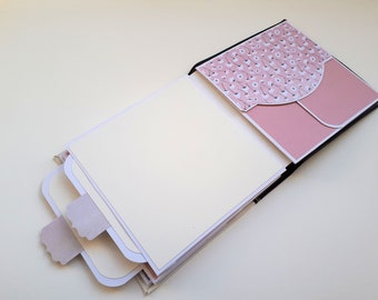 mixed media journal, art journal mixed media, field journal, interactive art journal, gift for mom, gift for crafty mom, blank journal
