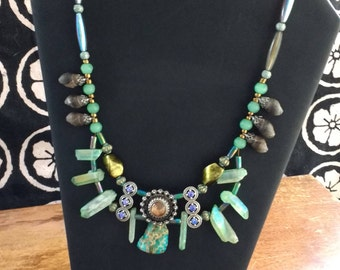 Seafoam Doubled Stranded Necklace