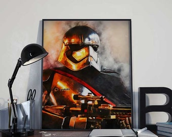 Captain Phasma Star Wars Art Print Poster - Episode VII The Force Awakens PRINTABLE 8x10 inches - Ideal Last Minute Gift