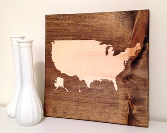 Map Sign, USA Sign, United States Sign, Wall Decor, Custom Sign, Wooden Sign, Fourth of July Sign, Wooden Map Sign, United States Map