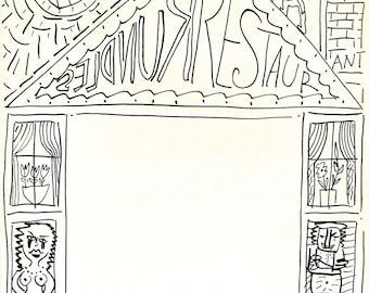 MENU CARD DRAWING, by Viktor Tinkl.