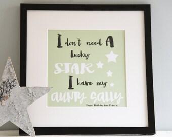 Lucky Star Print, Wall Art, Print,
