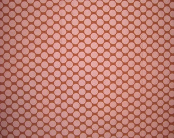 "Amy Butler Full Moon polka dot camel fabric 22"" X 42"""