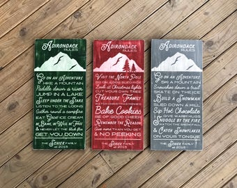 Personalized Adirondack Rules Bundle - Adirondack Decor - Mountain Decor - Cabin Decor - Lake Decor - Wood Sign - Family Rules - Cabin Rules