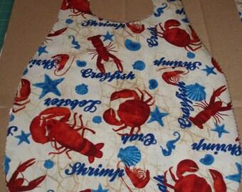 Seafood Bib, Party Bib, Lobster Bib, Adult Bib, Special Needs Bib, Reversible Bib, Clothing Protector