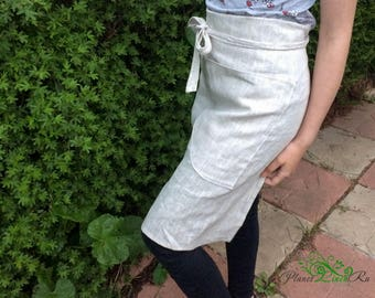 Linen apron for the kitchen Work apron Organic apron Natural apron Natural linen apron Cafe apron Table linens