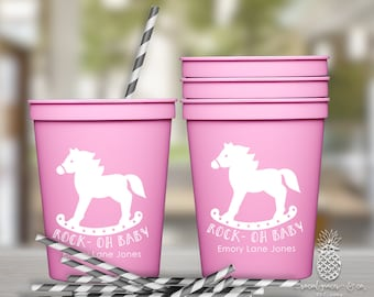 Rocking Horse Baby Shower Cups