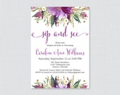 Purple Sip And See Invita...
