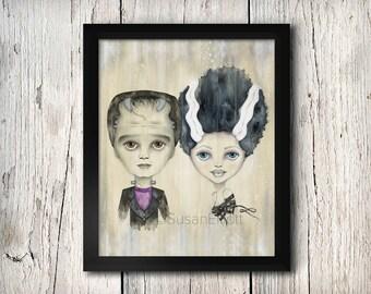 Frank & Bride Fine Art Print