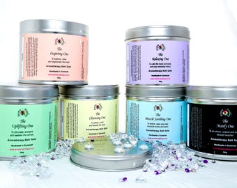 Gift Boxed Bath Salts - Gift for Friend - Aromatherapy Bath Salts - Luxury Bath Salts - Epsom Salt Soak - Epsom Bath Salts - Gift for 10