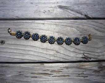 Blue Gold Flower Bracelet