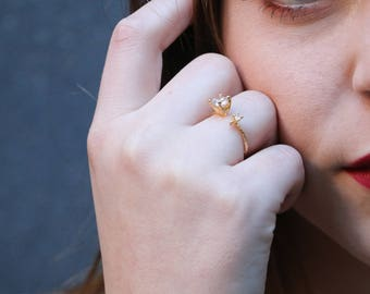 Cubic Open Ring Component Adjustable ring