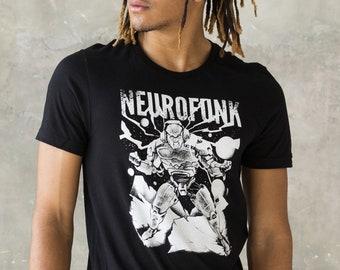 Neurofunk Destruction T Shirt - Drum and Bass Robot DJ Synthesizer & Bass Synth 808 Music Producer Junglist Dubstep Screen Printed Tee Top