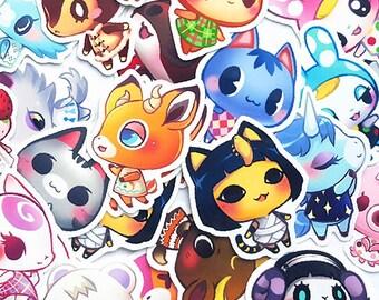 Animal Crossing Hand Cut Vinyl Sticker
