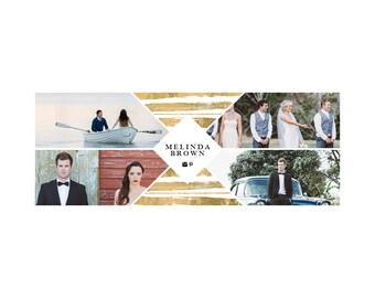 Melinda gold facebook cover - Instant download