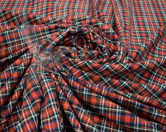 Cotton Flannel Plaid 27 Tartan Fabric by the Yard