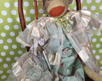 "Sock Monkey - Vintage - ""Virry Ann"""