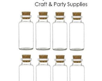 Nakpunar 8 pcs Glass Spice Vials with Cork - 6 oz