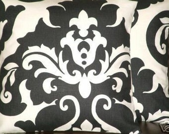 "2 16"" Modern Contemporary Black White Retro Funky Designer Cushion covers,pillowcases,Pillow Covers,Pillow slips,Throw pillow"