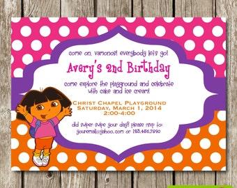 Dora the Explorer Birthday Invitation