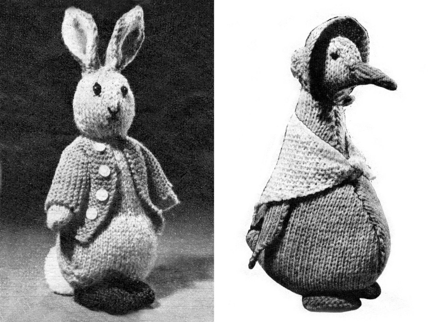 PDF Peter Rabbit Jemima Puddle Duck Knitting Patterns Rare